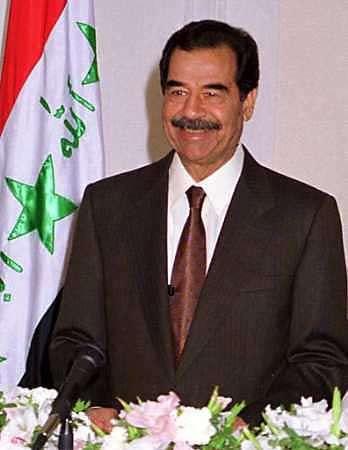 Saddam Hussein Irakin presidentti (16. heinäkuuta 1979 – 9. huhtikuuta 2003).