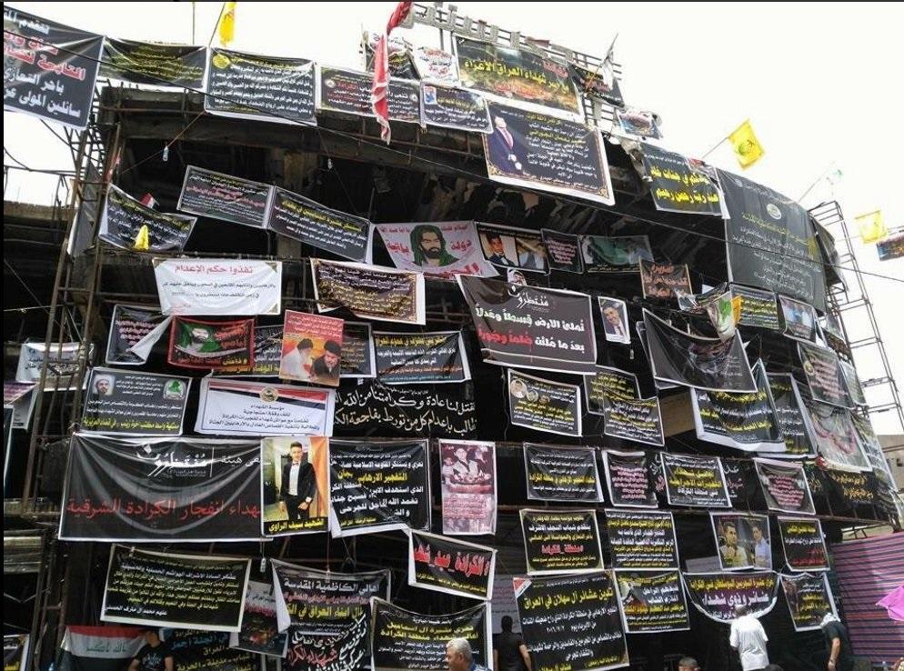 Suruvalitteluja Bagdadissa.