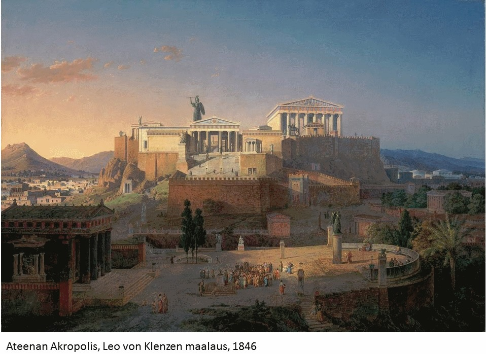 Jo antiikin Kreikassa käytettiin myös demokratiaa: Ylintä päätösvaltaa esimerkiksi Ateenassa käytti kansankokous.