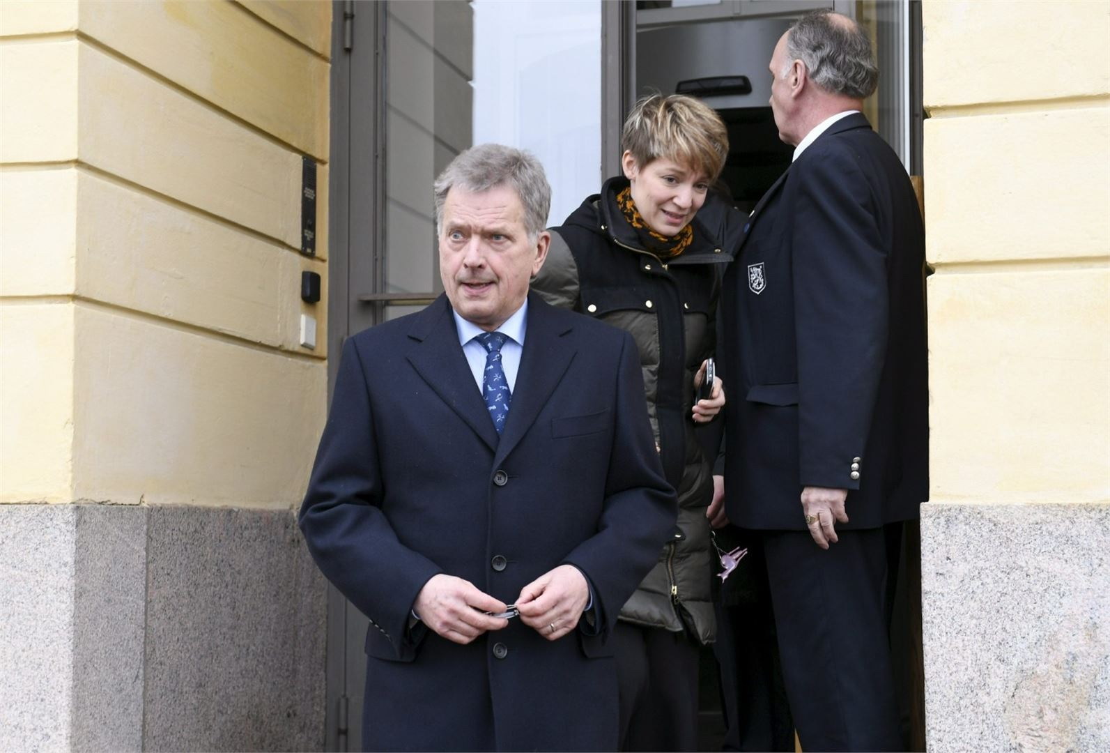 Presidentti Sauli Niinistö kommentoi Syyrian tilannetta hänen ja hallituksen ulko- ja turvallisuuspoliittisen valiokunnan ylimääräinen kokouksen jälkeen.