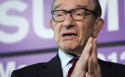 Keskuspankkiiri Alan Greenspan.