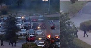 autoja poltetaan
