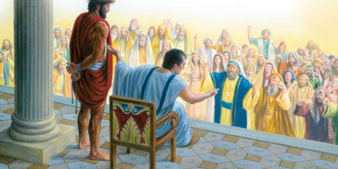 Jeesus tuomittavana