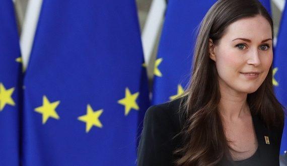 """Pääministeri Sanna Marin on painottanut, että Suomi on nettomaksaja, koska """"kuulumme unionin vauraimpiin maihin"""". KUVA: NICOLAS ECONOMOU"""