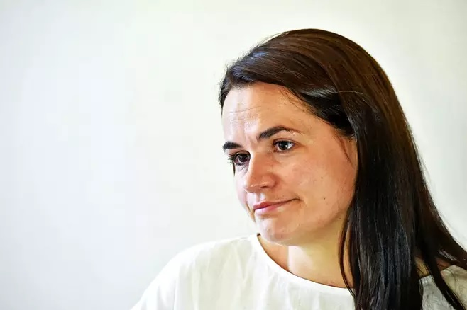Sionistien nostama oppositio edustaja Svetlana Tihanovskajan.